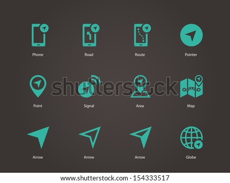 Navigator icons. See also vector version. - stock photo