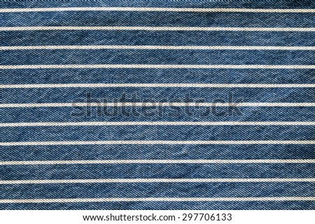 Navy blue striped denim texture background, jeans fabric - stock photo