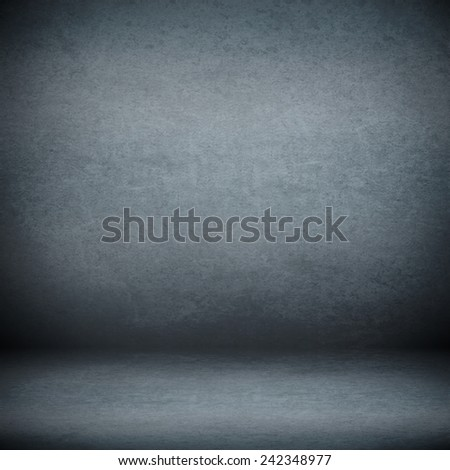 navy blue suede background and beam of lights, empty room as grunge background texture - stock photo
