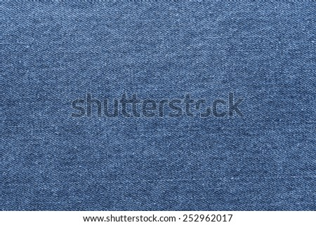 navy jeans fabric plain surface background, denim textile texture - stock photo