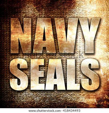 navy seals, rust writing on a grunge background - stock photo