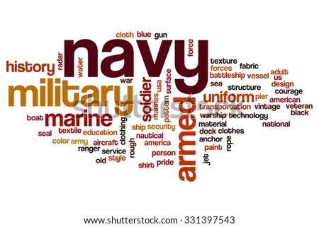 Navy word cloud - stock photo