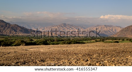 Nazca valley, in ica, Peru. - stock photo