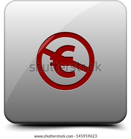 NC (EU) button - stock photo