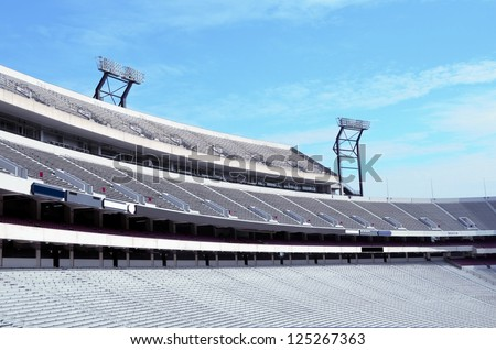 NCAA American college football field at Georgia, USA. - stock photo