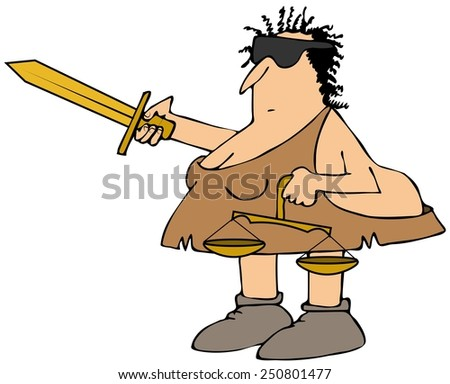 Neanderthal Justice - stock photo