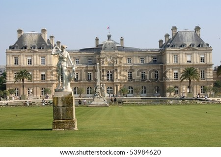 Near Palace de Luxembourg, Paris - stock photo