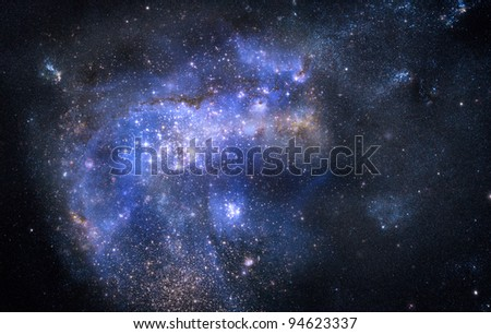 nebula gas cloud in deep outer space - stock photo