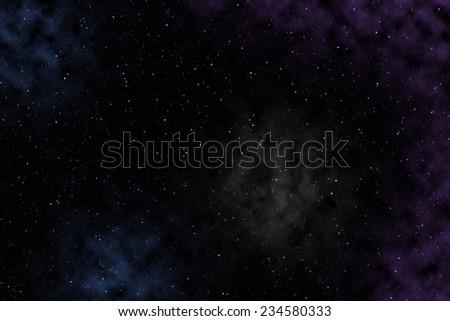 Nebula space background - stock photo