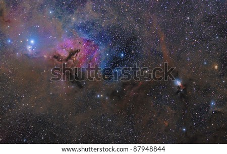 Nebulae in Taurus - stock photo