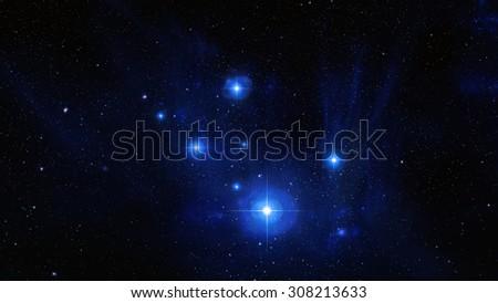 Nebulae Interstellar Cosmic Background - stock photo
