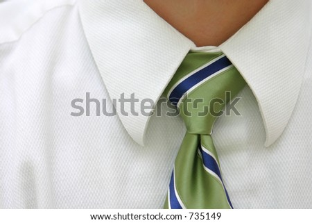 Neck Tie Close Up - stock photo