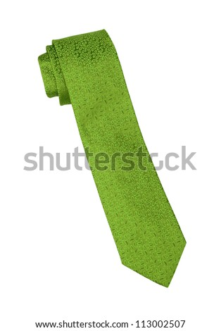 neck tie isolated on white background - stock photo