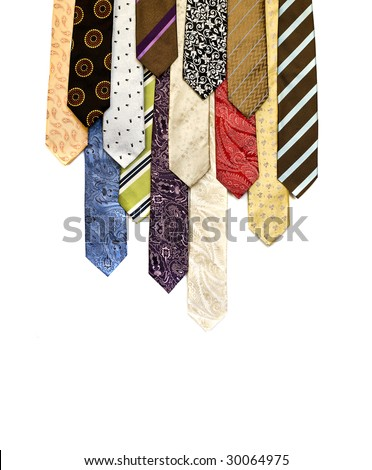 neck ties - stock photo