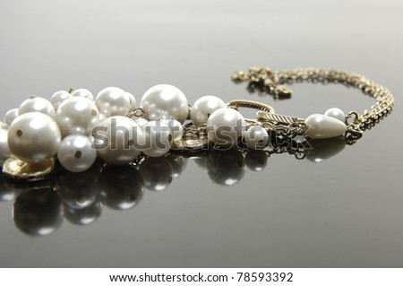 Necklace, studio isolated photo - stock photo