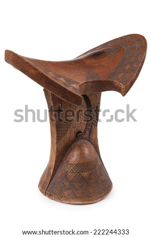 neckrest used by many African tribals in Ethiopia - stock photo