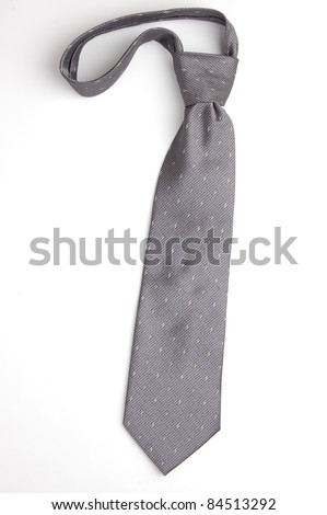 necktie isolated on white - stock photo