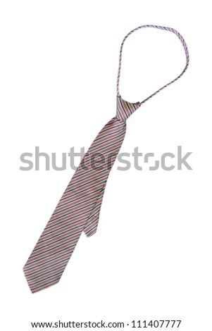 necktie on a white background - stock photo