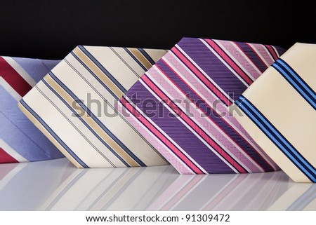neckties collection - stock photo