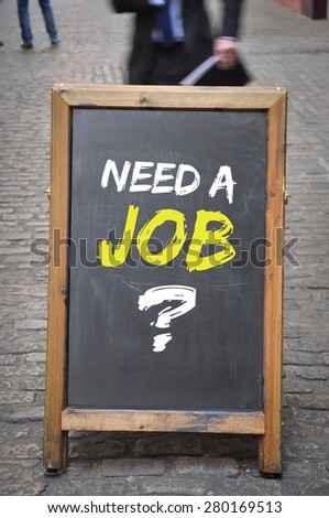 Need a job billboard or display panel - stock photo