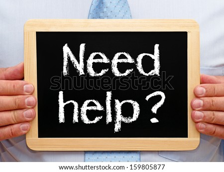Need help ? - stock photo