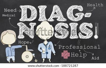 Need Professional Medical Diagnosis on Blackboard - stock photo