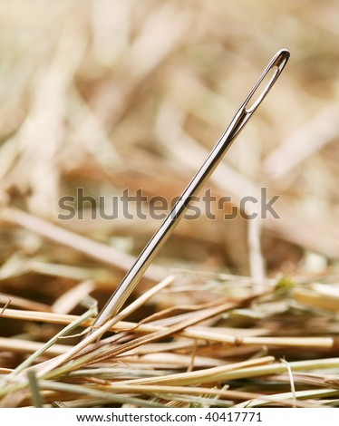 Needle is in a haystack - stock photo