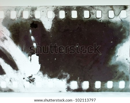negative film strip grunge - stock photo