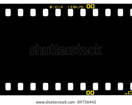 Negative filmstrip background - stock photo