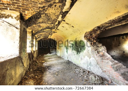 Neglect building indoor at day - stock photo
