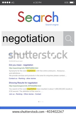 Negotiation Compromise Agreement Reconcile Concept - stock photo
