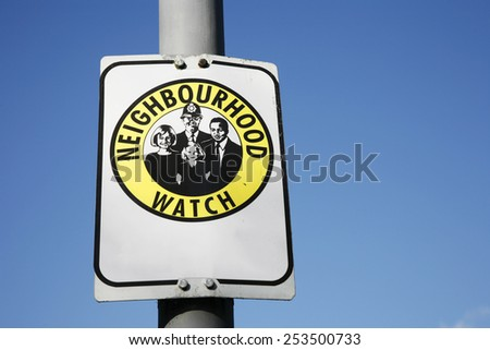 Neighbourhood watch area sign in England, UK  - stock photo