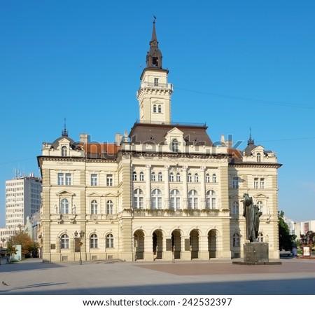 neo-classical architecture of City Hall in Novi Sad, Serbia - stock photo