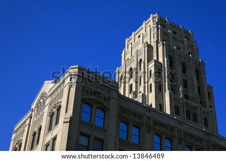 Neo-gothic skyscraper in downtown Toronto, Canada - stock photo