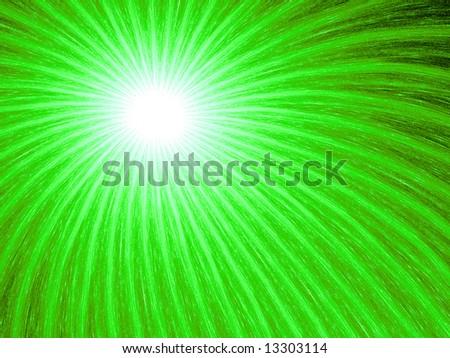 Neon Green Fireworks - Fractal Illustration - stock photo