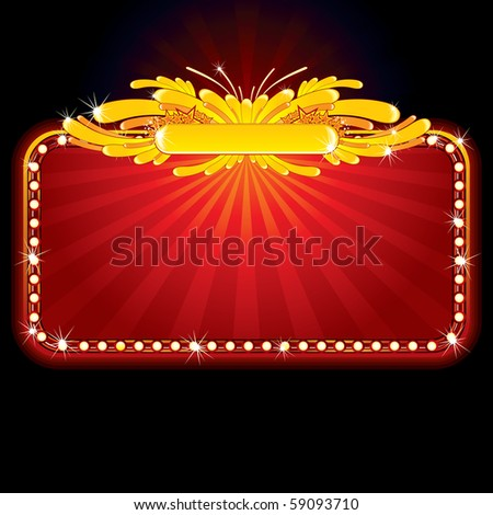 Neon luxury sign -for celebrating and entertainment text&design.(id=56960068 vector) - stock photo