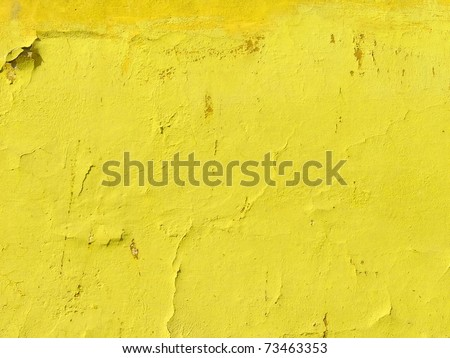 Neon vibrant yellow green grungy wall texture. More of this motif & more backgrounds in my port. - stock photo