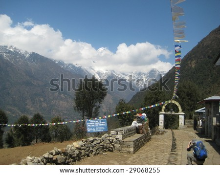 nepal himalaya expedition - stock photo