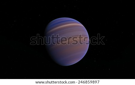 Neptune, fantastic planet - stock photo