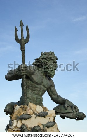 Neptune Statue Virginia Beach - stock photo