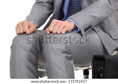 Nervous businessman - stock photo