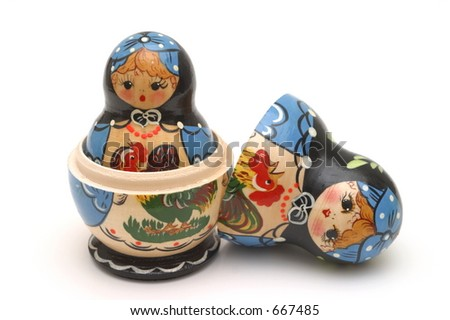 Nested Babushka Doll - stock photo