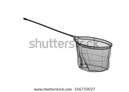Net for fishing isolated - stock photo