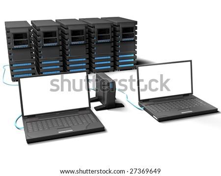 Net render - stock photo
