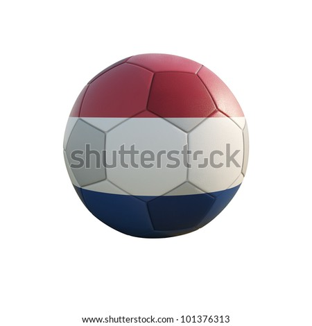 netherland soccer ball isolated on white - stock photo