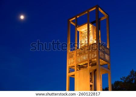 netherlands carillon in Arlington Virginia symbol of friendship - stock photo