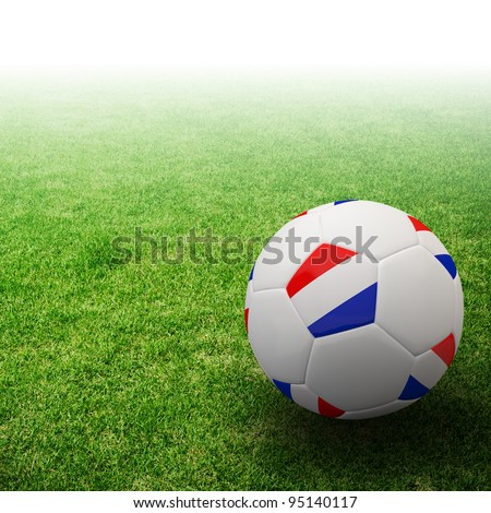 Netherlands flag on 3d football for Euro 2012 Group B - stock photo