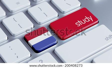 Netherlands High Resolution Study Concept - stock photo