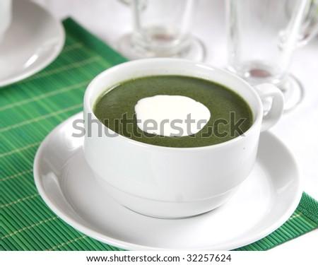 Nettle soup - stock photo