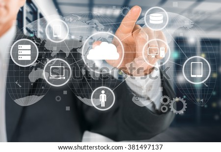 Network. - stock photo